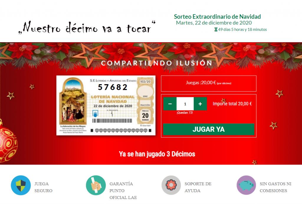 Web de loteria de navidad para familias y amigos