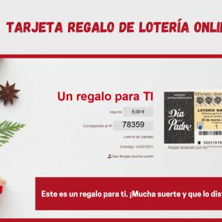 Regalar lotería online con la TARJETA REGALO LOTERIA ONLINE